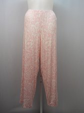 Buy Women Knit Pajama Bottoms ALFANI INTIMATES PLUS SIZE 3XL Pink Paisley Print