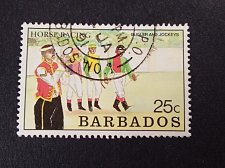 Buy Barbados 1990 Horse Racing 1v used Fine Used