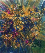 Buy Bouquet of Flowers Abstract Art Painting on Canvas