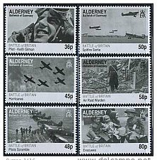 Buy Alderney Guernsey 2010 MNH Battle of Britain 70th Anniv 6v Set