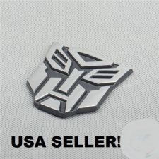 "Buy PVC Chrome Transformers ""Autobot"" Sticker Car Decoration 3D Emblem Autobots Logo"