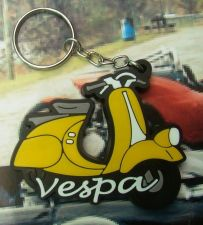 Buy 1 KEYCHAIN KEY RING YELLOW COLOR RUBBER VESPA MOTORCYCLE COLLECTIBLE FREE SHIP