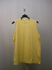 Buy Mens Muscle T-Shirt SIZE L ROUNDTREE & YORKE Cotton Solid Yellow