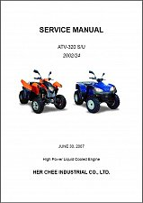 Buy Adly ATV-320S / ATV-320U Service Manual CD