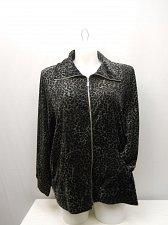 Buy Womens Yoga Jacket STYLE&CO PLUS SIZE 3X Animal Print Long Sleeve Zip Front