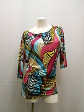 Buy Womens Dress SIZE L TRUE LIGHT Multi Color Dolman Cold Shoulder Clubwear Sexy