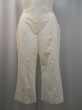 Buy PlLUS SIZE 18W 22W 24W Womens Capris ALFRED DUNNER Solid White Straight Leg