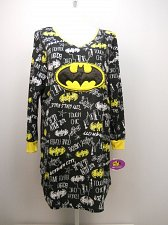Buy PLUS SIZE 2X 3X Womens Fleece Sleep Shirt BATGIRL Long Sleeves V-Neck Pullover