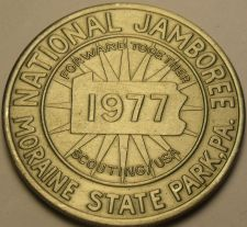 Buy Gem Unc Boy Scouts National Jamboree 1977 Medallion~Moraine State Park P.A.~Fr/S