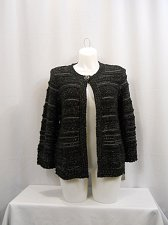 Buy Women Jacket Size M JM Collection Black 1 Button Closure 3/4 Sleeves Career