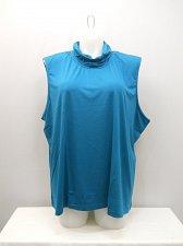 Buy Womens Knit Top PLUS SIZE 4X SALON STUDIO Mock Turtle Neck Solid Teal Sleeveless
