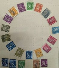 Buy Finland used lot of 21 stamps on Coat of Arms Heraldic Animals
