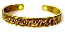 Buy ELECTRIFIED FEEL BETTER EJGT-036G Roman Royalty Gold Plated Copper Bangle