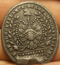 Buy French Intellegence Surveillance Masonic Medal~World War 1