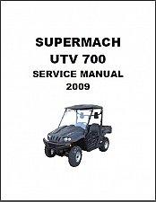 Buy Supermach UTV 700 4X4 Service Manual on a CD