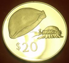 Buy Rare Silver Proof Fiji 1978 $20.00~Golden Cowrie~3,869 Minted~Free Shipping