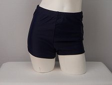 Buy SIZE 10 Women Swim Boy Shorts SHORE CLUB Solid Navy Blue Front Mesh Lining