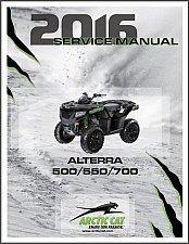 Buy 2016 Arctic Cat Alterra 500 550 700 Service Repair Workshop Manual CD
