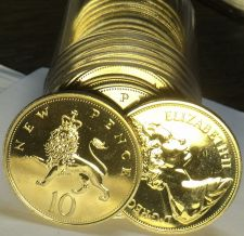 Buy Great Britain 1971 10 Pence~Proof Roll Of 20~Crowned Lion~Rare