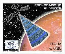 Buy Italy self adhesive stamp hologram Italian participation to the exploration prog