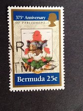 Buy Bermuda 1v used 1995 375th Anniversary of Parliament 1620-1995