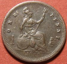 Buy Great Britain Lauer One Penny Jeton Token Unc~Made In The 1800's~Free Shipping