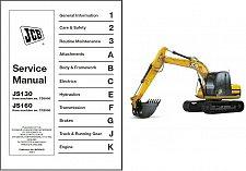 Buy JCB JS130 JS160 Excavator Service Workshop Manual on a CD --- JS 130 160