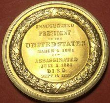 Buy Gem Unc James A. Garfield Presidential Bronze Inauguration Medallion~Free Ship