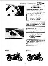 Buy 1988-1994 Yamaha FZR400 ( FZR400A - FZR400SAC ) Service Manual on a CD - FZR 400