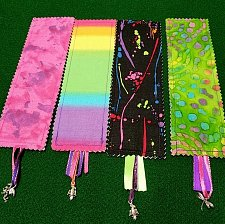 Buy Set of 4 handmade fabric charm ribbon bookmarks