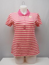 Buy Womens Polo Shirt Size 20 FADED GLORY Striped Pink Short Sleeves Activewear