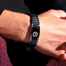 Buy ELECTRIFIED FEEL BETTER EJNP-P035 Silicone & Steel Bracelet w 2 Magnet Stones