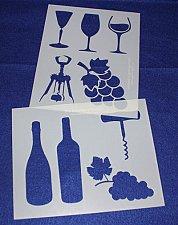 Buy 2 -Mylar 14 Mil Wine Stencils Painting/Crafts/Stencil/Template
