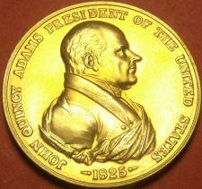 Buy Gem Unc John Quincy Adams Presidential Bronze Inauguration Medallion~Free Ship