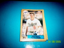 Buy 1987 Topps Traded Baseball CARD OF MICKEY HATCHER DODGERS #T43 MINT