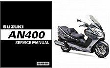 Buy 2007-2012 Suzuki Burgman / Skywave 400 ( AN400 ) Scooter Service Manual on a CD