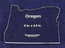 """Buy State of Oregon 6"""" x 4.5"""" ~ 1/4"""" Quilt Template- Acrylic - Long Arm/Hand Sew"""