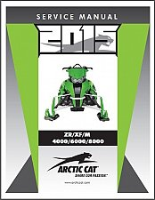 Buy 2015 Arctic Cat ZR XF M 4000 6000 8000 2-Stroke Snowmobiles Service Manual CD