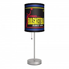 "Buy :10244U - Topps Basketball Gum Wrapper 1971 Design Shade 16 1/2"" Table Lamp Stainless"