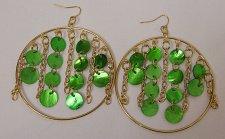 Buy Women Fashion Drop Dangle Hoop Earrings Green Shells Unbranded Hook