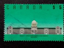 Buy Canada Stamp used1990 $5 Scott 1183 - Bonsecours Market, Montreal, QC