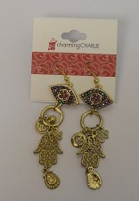 Buy Women Fashion Drop Dangle Earrings All Seeing Eye Charms Rhinestones CHARMING CH