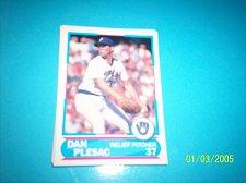 Buy 1988 Score Young Superstars series 11 baseball DAN PLESAC #32 FREE SHIP