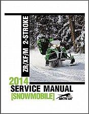 Buy 2014 Arctic Cat ZR XF M 6000 8000 2-Stroke Snowmobiles Service Manual on a CD
