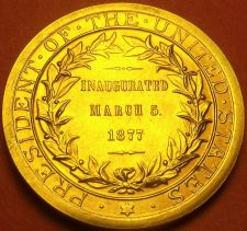 Buy Gem Unc Rutherford B. Hayes Presidential Bronze Inauguration Medallion~Free Ship