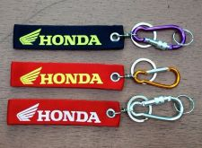Buy ็HONDA Screen Embroidered Fabric Keychain Tag Motorcycle multiple colors.