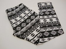 Buy Womens Ankle Leggings SIZE XL NO BOUNDARIES Tribal Print Skinny Legs Inseam 28
