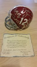 Buy 2009 Team Autographed Signed Alabama Mini Helmet with COA (407)