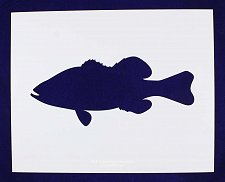 Buy Bass (fish) Swimming Stencil -Large- Set-14 Mil Mylar- Painting/Crafts/Template