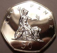 Buy Great Britain 1974 50 Pence Proof~Britannia~Scarce